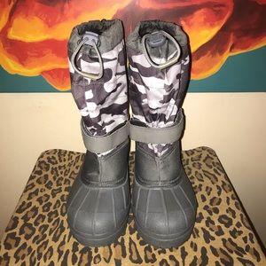 COLUMBIA Waterproof Gray Camo Winter Boots Sz 7